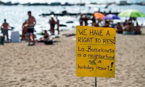Prosvjedi turizmofobija Barcelona