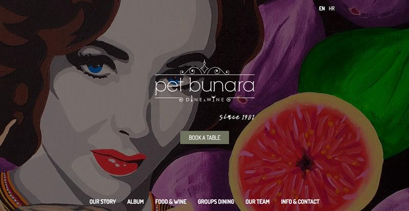 Pet Bunara Zadar website