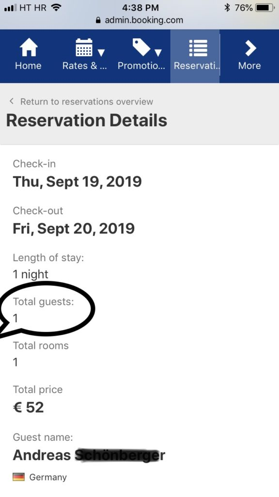 Gost samac booking